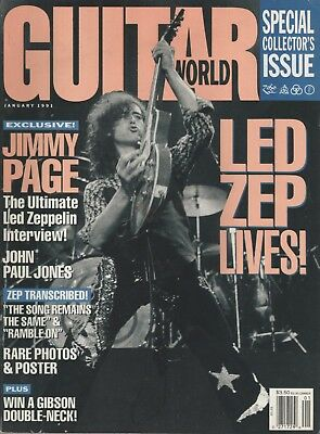 Guitar World Magazine Led Zeppelin Jimmy Page January 1991 Collectors Issue
