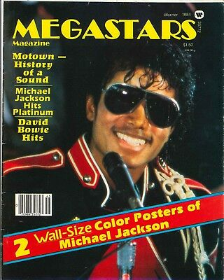 Megastars Magazine 1984 Michael Jackson MJ Poster RARE David Bowie KING OF POP