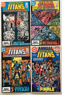 Tales of the Teen Titans #42-44 & Annual #3 (1984) The Judas Contract (NM-)*