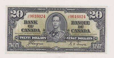 1937 King George Vi  Bank Of Canada  20 Dollar Bill