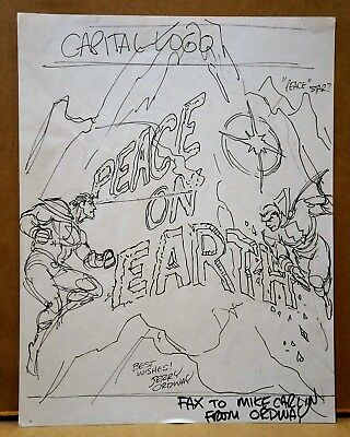JERRY ORDWAY - Preliminary Cover Art - SUPERMAN & SHAZAM