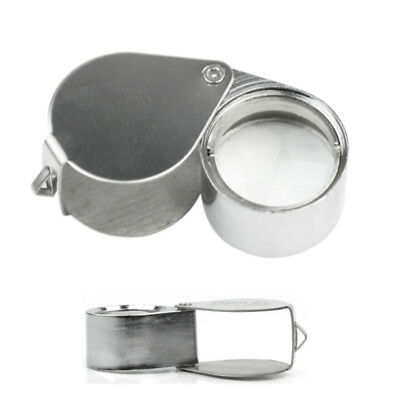 30X-21mm Triplet Jewelry Eye Loupe Test Jade Magnifier Mirror Magnifying Glass