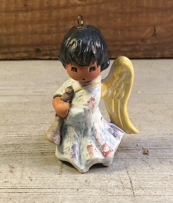 "DeGrazia Goebel Annual 2001 ""Angel with Horn"" Christmas Ornament Signed"