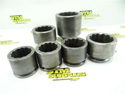 """6Pc Lot Of Apex Usa Impact Sockets 12 Point 3/4"""" Drive 1-3/4"""" To 2-11/16"""""""