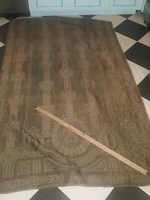 1880s Arts and Crafts Portiere with elegant pattern of the period Great Example!