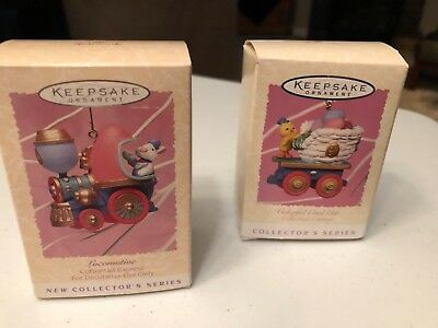 hallmark easter ornaments: Cottontail Express Locamotive and Colorful Coal Car