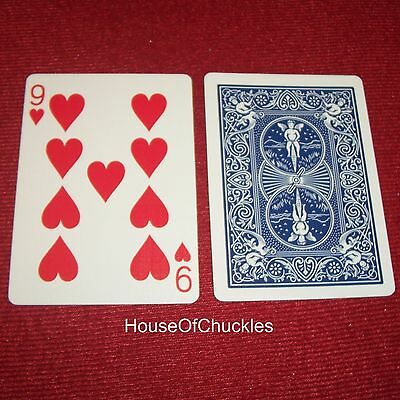 One Way Forcing Card Deck, 9 Of Hearts, Blue Bicycle, Magic Trick, 1-way Force