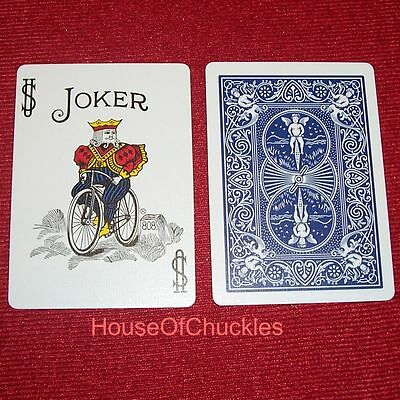 (100) One Way Forcing Blue Bicycle, Color Joker Playing Cards, Deck Magic Force