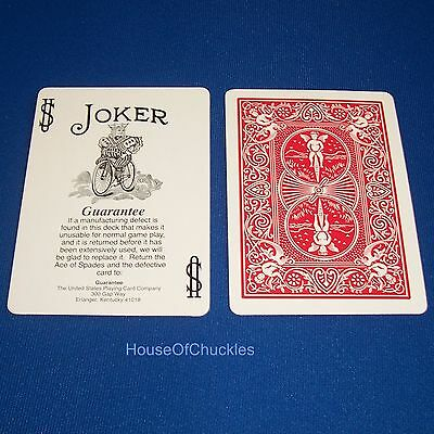 One Way Force Card Deck, Black White Guarantee Joker, Red Bicycle, Magic Trick