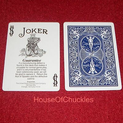 One Way Force Deck Black White Guarantee Joker Blue Bicycle Forcing Cards NO BOX