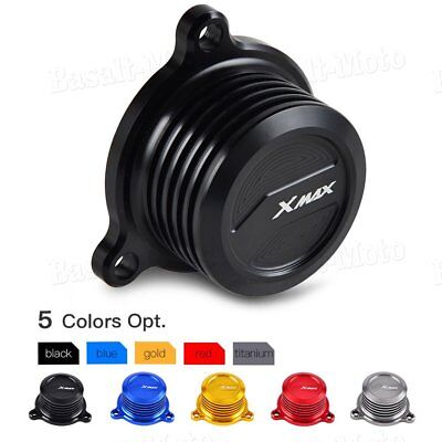 CNC Gas Oil Filter Cover Cap Guard Protector For Yamaha X-MAX 125/250/300/400 BS
