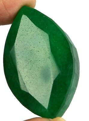 Natural Green Emerald Loose Gemstone 178.30 Ct Marquise Cut Brazilian Super Sale