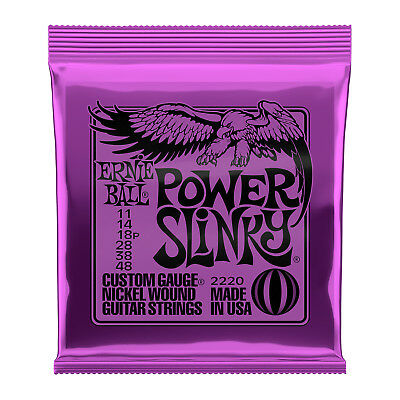 Ernie Ball 2220 Electric Guitar Strings Nickel Power Slinky 11-48 - New