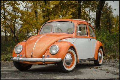 1965 Beetle-New -- 1965 VOLKSWAGEN BEETLE  3,000 Miles ORANGE  1600 Manual