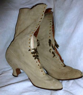 Antique Women's Pointed Toe High Top Shoes Boots post Victorian HANAN size 6.5