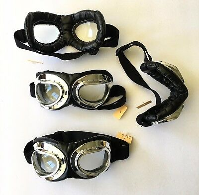Dr. Peepers Aviator Goggles Chrome Padded Adjustable Cosplay Costume Steampunk
