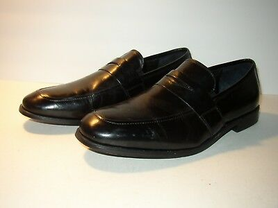 056a1abb522 FLORSHEIM JET BLACK Leather Penny Loafer SZ Mens 11.5 Lightly Worn ...