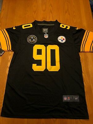 online store 1bafb a8cf5 PITTSBURGH STEELERS T.J. Watt Jersey Small Stitched Color Rush Jersey