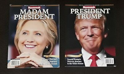 Newsweek Madam President Hillary Clinton Recalled Commemorative & Donald Trump