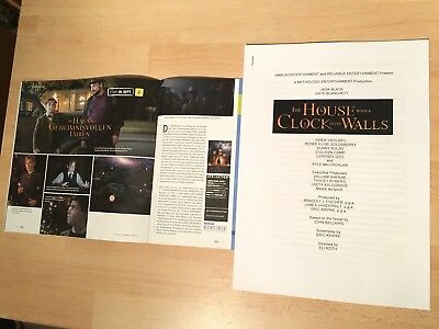 HOUSE WITH A CLOCK IN ITS WALLS press kit CATE BLANCHETT, JACK BLACK / NO poster
