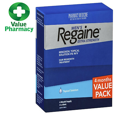 Regaine Men's Extra Strength 4 Months Supply Hair Loss 5% Minoxidil Solution