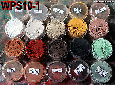 Wps10-1 Dave's Weathering Powders All Natural Earth Pigment 10 Color Set 1