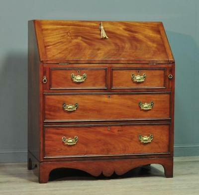 Attractive Large Antique Victorian Mahogany Bureau Cabinet Chest Of Four Drawers
