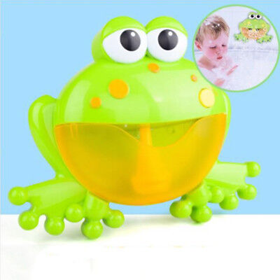 Bubble machine big frog automatic bubble maker blower music bath toys for bab LC
