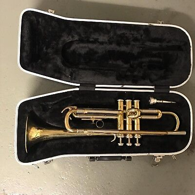 B & M Lacquered Brass 'Champion' Trumpet Student Instrument & Carry Case