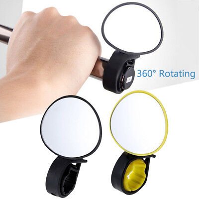 360°Rotate Bike Bicycle Handlebar Rearview Mirror Cycling Flexible Rear View ZY