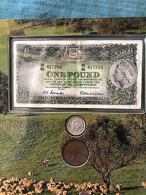Pound Shilling & Pence Coin Banknote Set One Pound