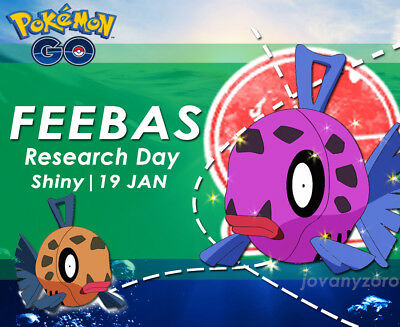 Pokemon Go SHINY Feebas - Research Day - Feebas / Milotic Shiny Guaranteed