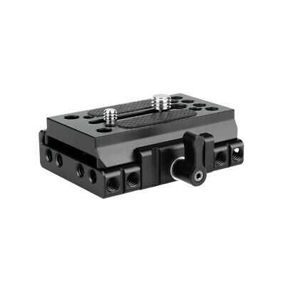 NICEYRIG Quick Release Base with Plate for Camera DSLR 15mm Rail Support System