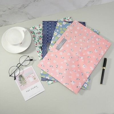 File Folders A4 Floral Wallets Documents School Office Stationary Paper Filing