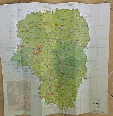 Carte touristique Limousin France - Touristic map 1:500000 - for collectors