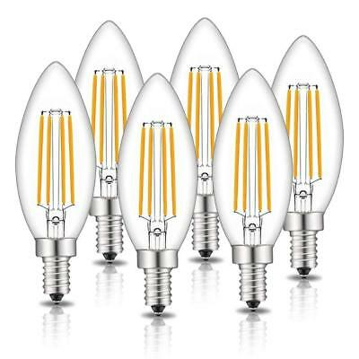 LED Edison Bulbs Dimmable E12 LED Candle Light Bulb Chandelier 4W = 40W