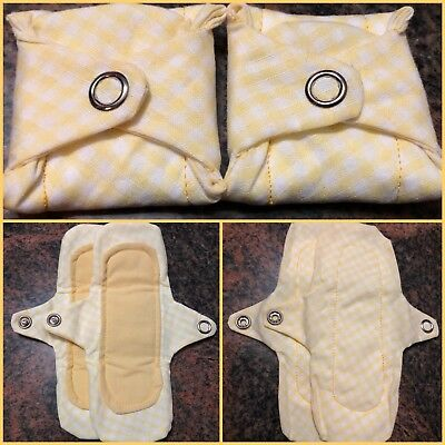 - CLEARANCE- 2 Cloth Panty Liners Lightly Padded Cotton Fabric Reusable