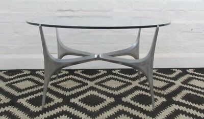 Vintage Retro Coffee Table Glass Aluminium Knut Hesterberg 1960s Heals Modernist