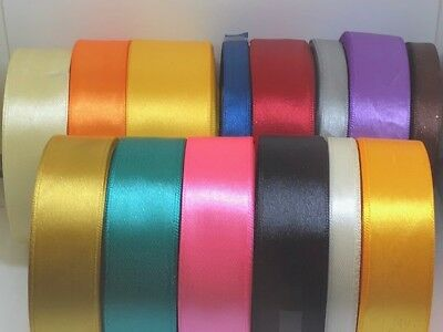 Satin Ribbon Birthday ribbon 25 M Rolls Width 6mm 10mm 16mm Various Colours ####