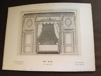 """1887 GENUINE ANTIQUE PRINT """"1887 No32 P.PATTE"""" PUBLISHED BY GEORG HIRTH"""