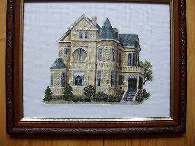 "Completed Crosstitch ""Gough Street San Francisco"" a Debbie Patrick Design"