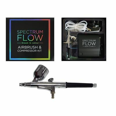 Spectrum Flow - Airbrush and Compressor Kit - Cake Craft and Art Tools