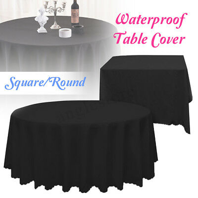70''/54'' Round Polyester Tablecloth Wedding Table Linens Decorations Banquet