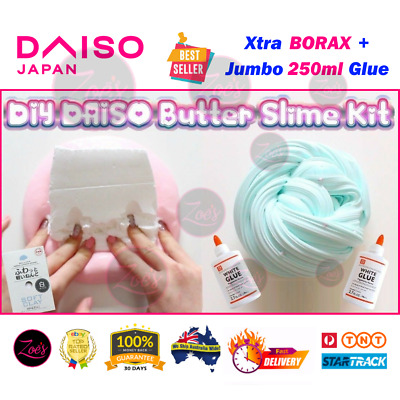 DAISO Clay Fluffy Butter Slime DIY Kit Glue Activator Chemistry Science Kids Toy