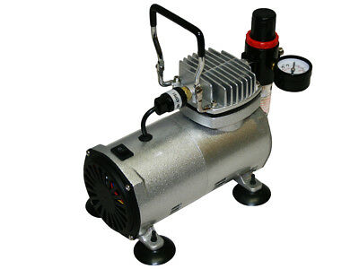 HIGH PERFORMANCE PROFESSIONAL QUIET AIRBRUSH COMPRESSOR AS18-2 0-4bars 1/5 PS