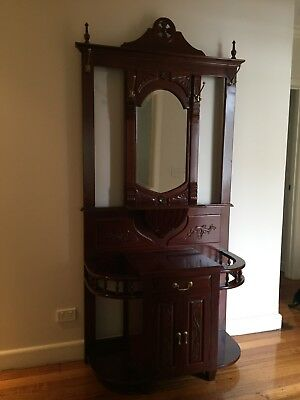 Hall Stand - Solid Timber Antique Reproduction