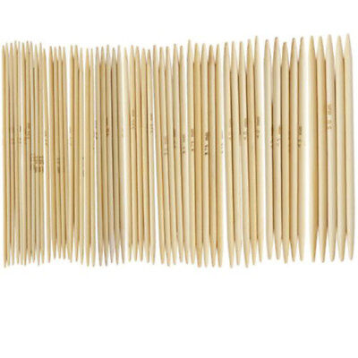 11 Crochet Knitting Needle Sets/55pcs Bamboo 2.0-5.0 mm US Wood Smooth Craft