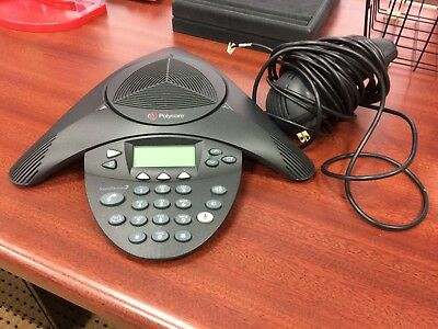 Polycom SoundStation 2 2201-16000-601 Display Conference Telephone w adapter