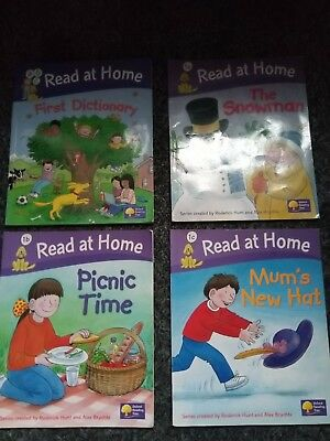 4 X  Oxford Reading Tree Books Bundle Read At Home Level 1  Getting Ready To Rea