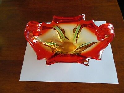 Murano Italian Art Glass Vintage Dish/Bowl Hand Blown